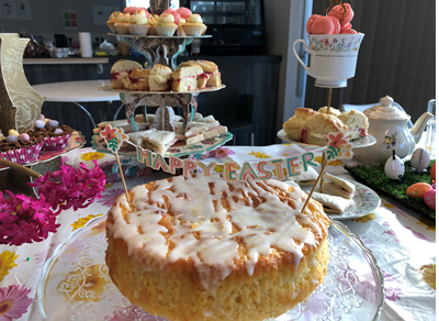 A selection of easter cakes on a table
