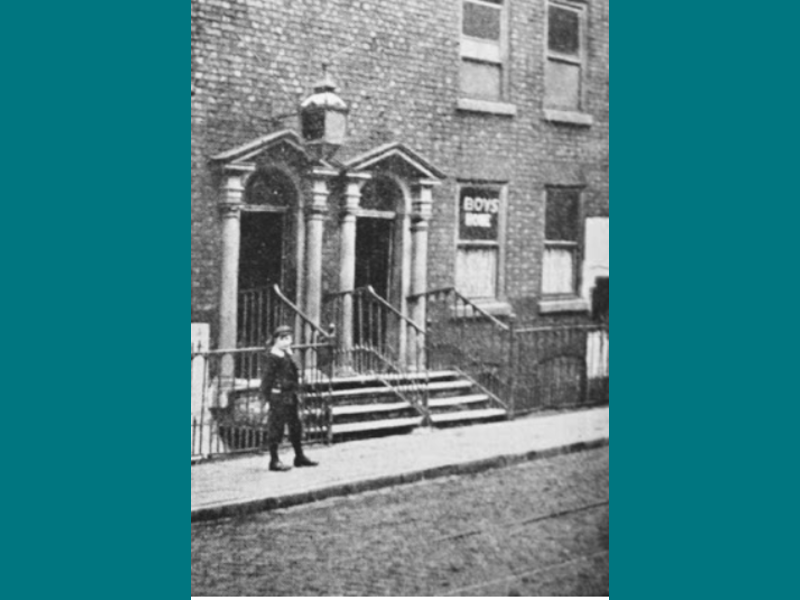 Our first home on Quay Street, Manchester.