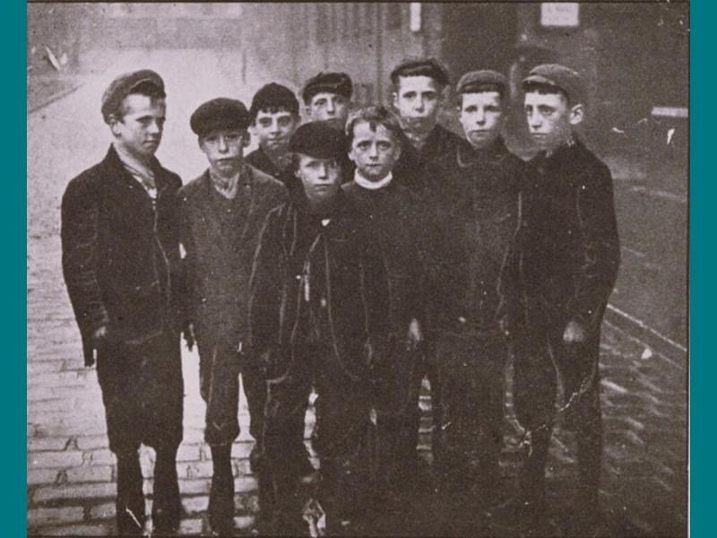 Street lads, Victorian Manchester