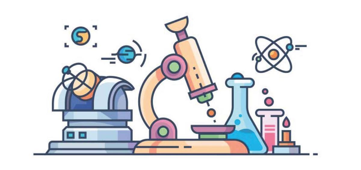 A cartoon drawing of scientific equipment