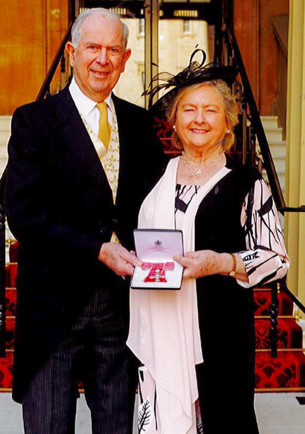 Wendy Coomer MBE and her husband Ian Coomer