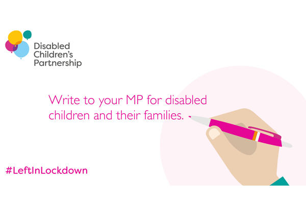 Call on your MP to ensure we have a COVID19 recovery plan so disabled children aren't left in lockdown