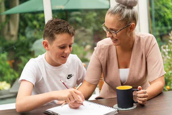 Foster carer and young person