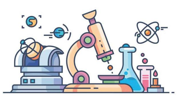 A cartoon drawing of scientific equipment