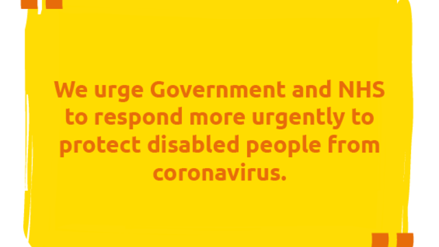 Quote from the open Statement from Disabled People's Organisations and Allies - February 2021